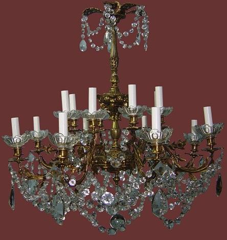 Restauracion de lamparas de cristal laton bronce - Lamparas de cristal antiguas ...